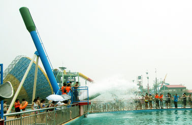 China 12.5m Height Cannon Ball Fiberglass Water Slide For Amusement Water Park usine